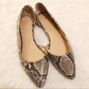 A New Day Gray Black Animal Print Flats Size 8.5